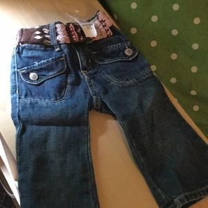 Old Navy..cutest Baby Jeans..Belted..Pockets